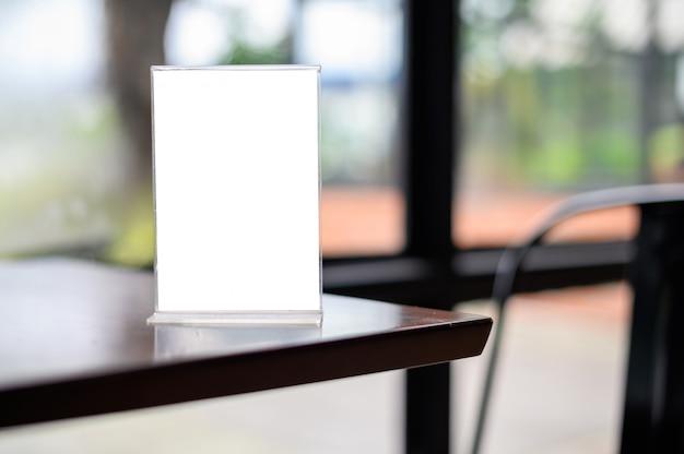 Cartão de tenda de quadro de menu