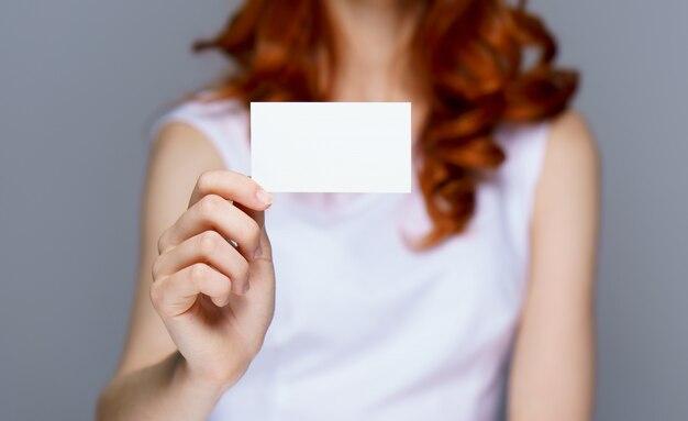 Cartão de visita da mulher