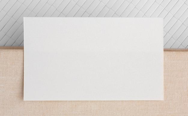 Cartão de visita de espaço de cópia plana
