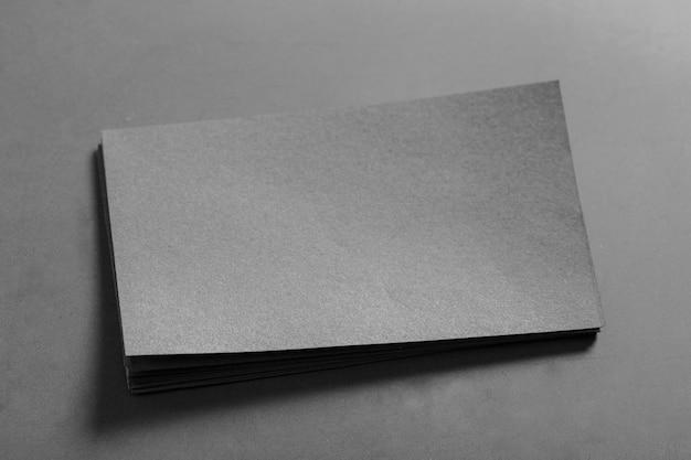 Cartão de visita em branco simulado acima