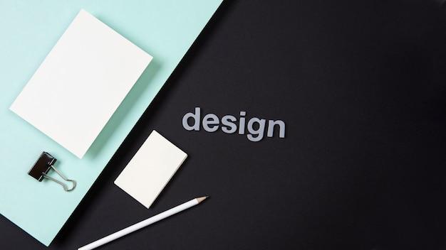 Cartão de visita minimalista conceito dual chrome