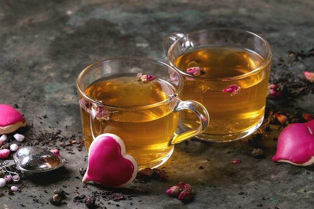 Cartão do chá do amor dos namorados