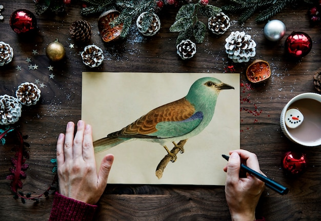 Cartão dos desejos de natal