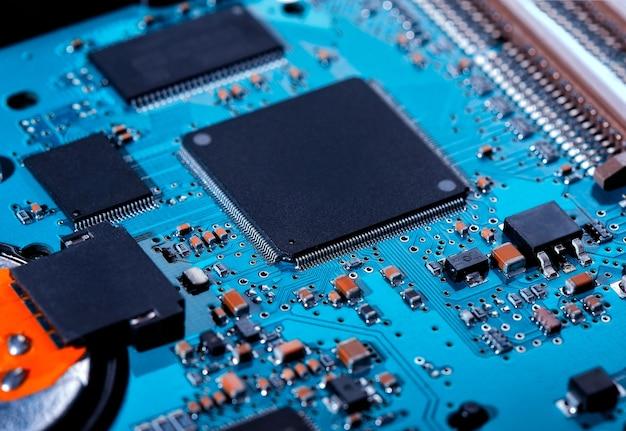 Cartão eletrônico close-up