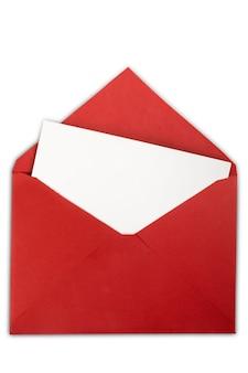 Cartão em branco e envelope no fundo
