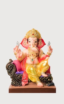 Cartão feliz ganesh chaturthi usando fotografia do lord ganapati idol