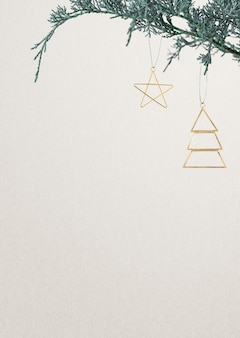 Cartão festivo de natal com espaço de texto