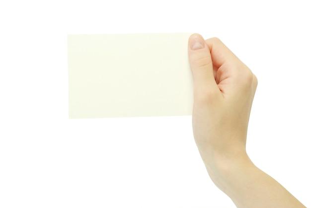 Cartão na mão
