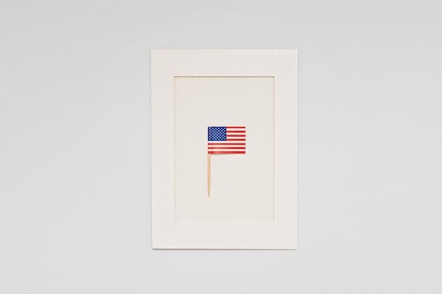 Cartão para a celebração do dia do presidente na américa