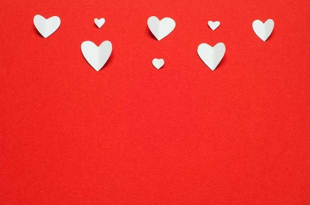 Cartão postal do dia dos namorados. amo o conceito de dia das mães e dia dos namorados. vista do topo. espaço da cópia