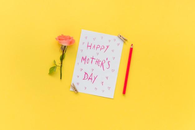 Cartão postal para a celebração do dia da mãe