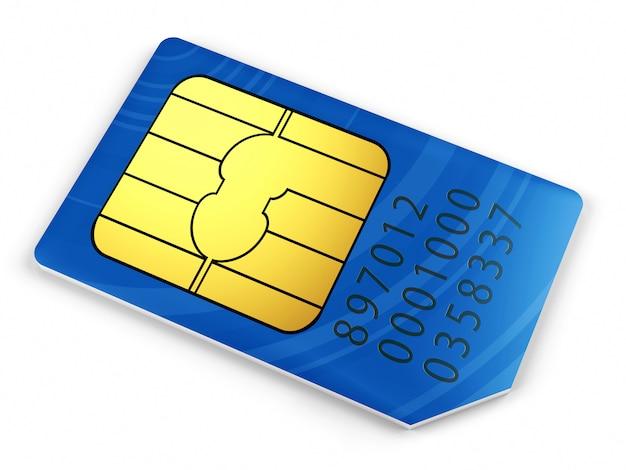Cartão sim azul