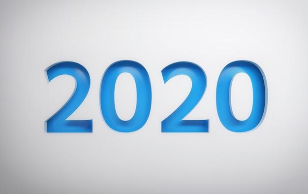 Cartão simples de 2020