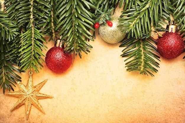 Cartão vintage de natal - plano de fundo do natal