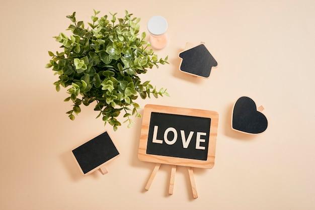 Cartas de amor e mini lousa