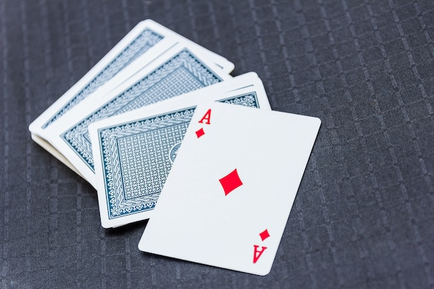 Cartas de jogar de cartas para jogos de cartas