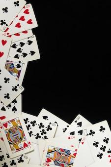 Cartas de poker fundo e textura