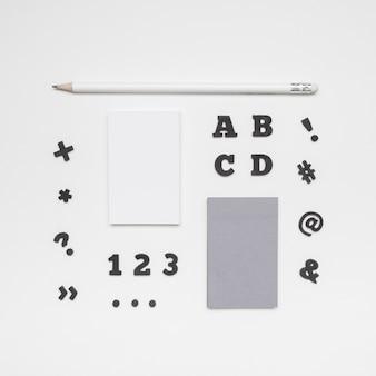 Cartas e cartões de visita plana leigos