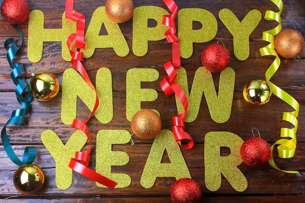 Cartaz de comemoração de feliz ano novo