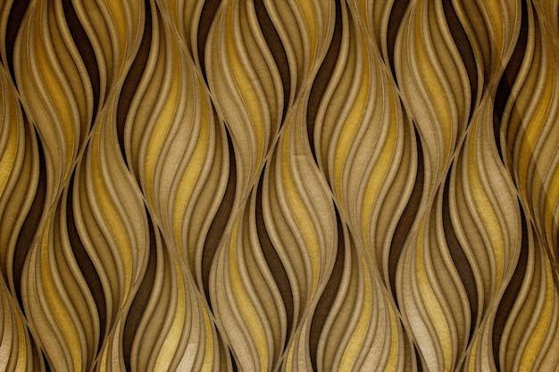 Cartaz de design abstrato moderno e elegante com linhas douradas e padrão geométrico preto
