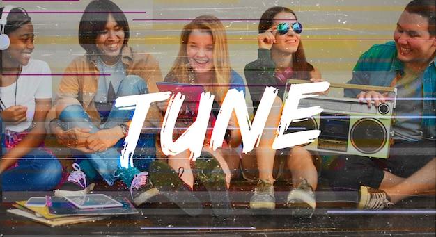Cartaz de música e juventude