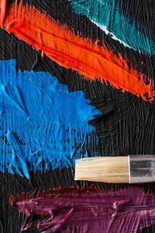 Cartaz de pintura abstrata. antecedentes de uma exposição de pintores