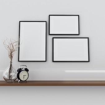 Cartaz interior 3d mock up