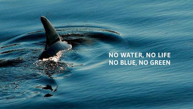 Cartaz marinho sem água, sem vida