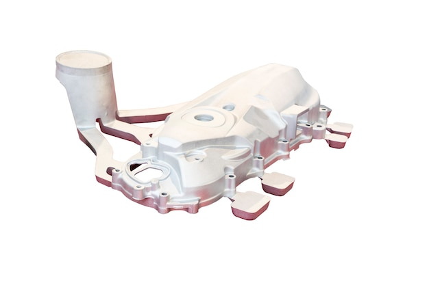 Cárter da tampa do motociclo feito por processo de alumínio de alta pressão com sistema de gating; antes do processo de usinagem