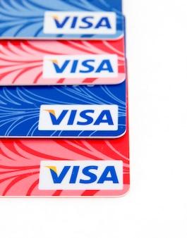 Cartões bancários de plástico