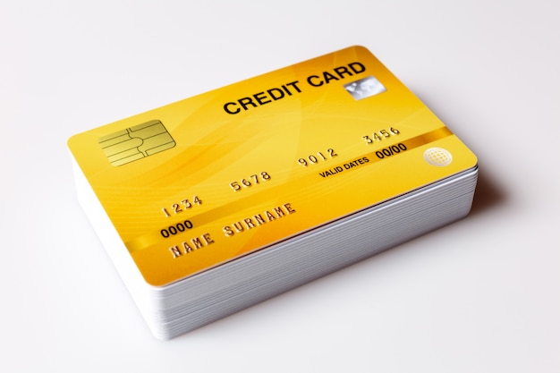 Cartões de crédito em branco