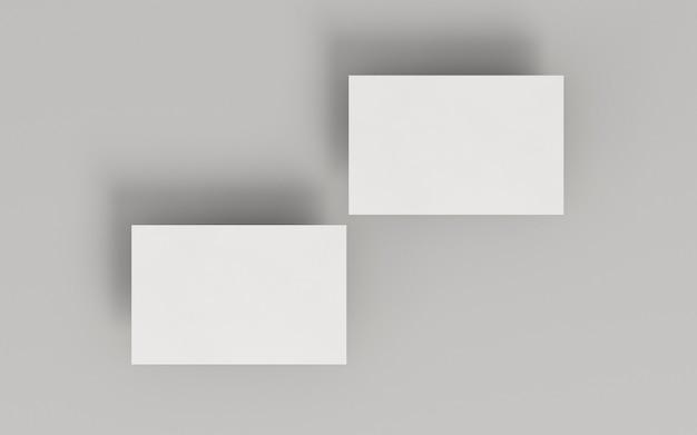 Cartões de visita em branco de papelaria corporativa com sombra