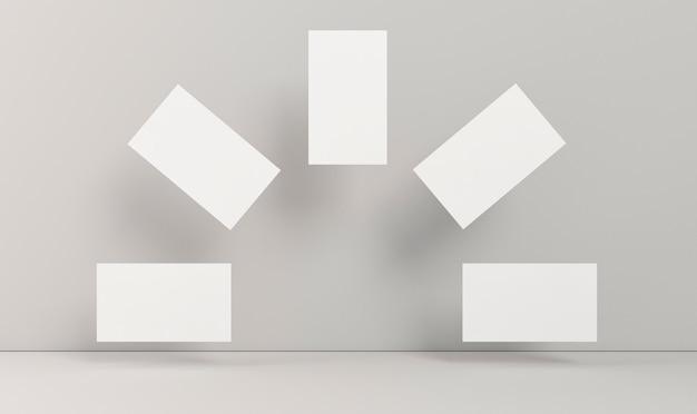 Cartões de visita em branco e papelaria corporativa em forma de arco-íris