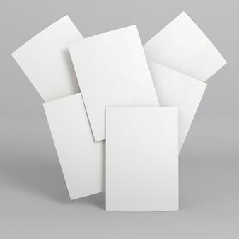 Cartões de visita em branco lotados de papelaria