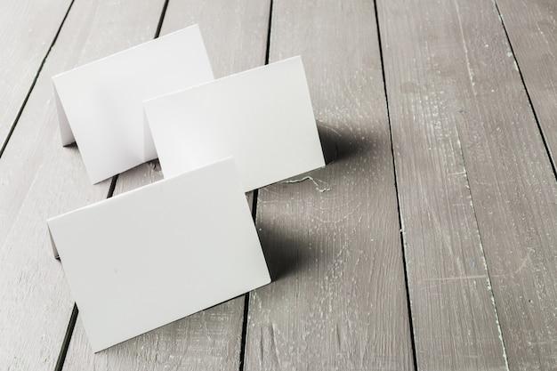 Cartões de visita em branco maquete