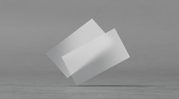 Cartões de visita transparentes plásticos em branco