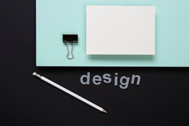 Cartões de visitas minimalistas do negócio dos artigos de papelaria