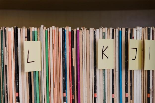 Cartões em ordem alfabética