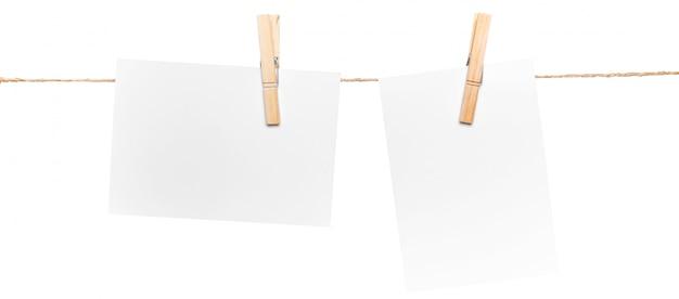 Cartões na corda, copie o espaço