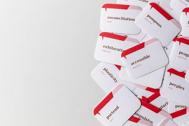 Cartões para ensinar e aprender inglês
