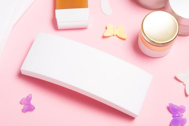 Cartucho de cera depilatória e folhas de papel, conjunto de ferramentas para depilação