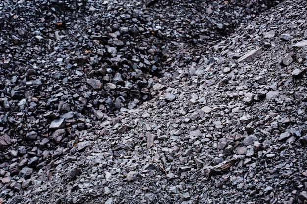 Carvão preto texturizado close-up de fundo