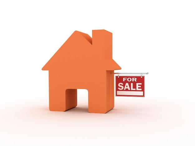 Casa à venda, renderização 3d