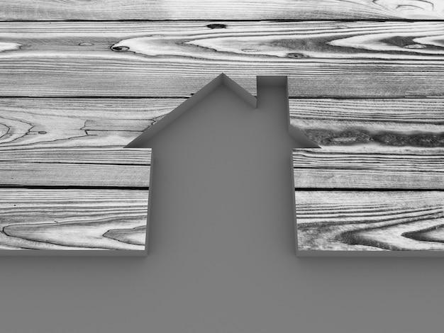Casa abstrata de madeira