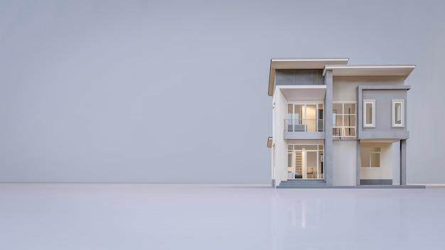 Casa arquitetônica de renderização 3d
