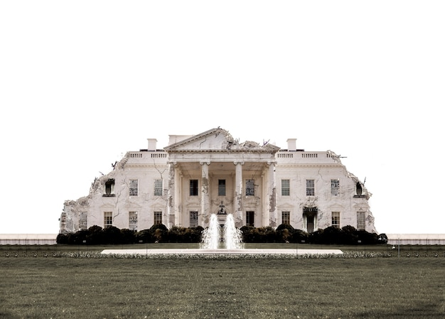 Casa branca em washington arruinada