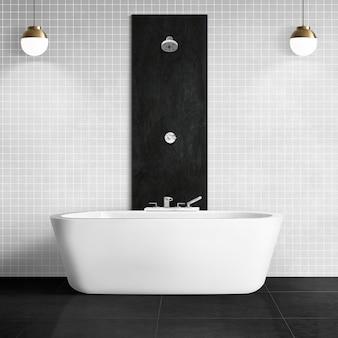Casa de banho luxuosa com design interior autêntico
