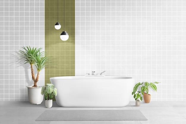 Casa de banho moderna com design interior autêntico
