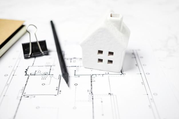 Casa de bugiganga e papelaria no projecto