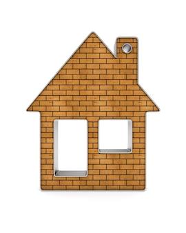 Casa de bugigangas. isolado, renderização 3d